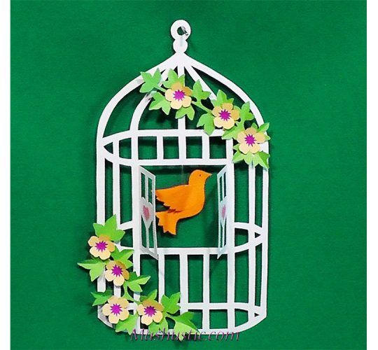 Diy Paper Dove With Printable Template Mashustic Com Bird Paper Craft Paper Birds Paper Crafts