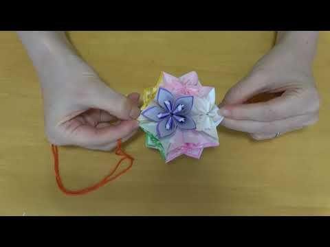作り方 簡単 折り紙 アレンジ くす玉 裏バージョン Youtube 2021 折り紙 簡単 くす玉 作り方 折り紙 フラワーボール