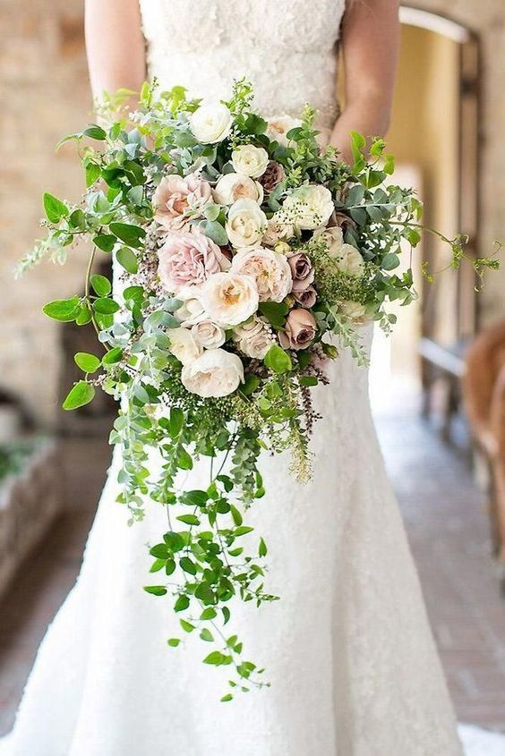 54 Cascade Wedding Bouquets For Charming Brides Cascading