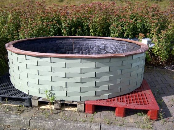 Raised Wooden Fish Pond Outdoor Water Feature With Liner Ebay Ponds Pools Pinterest