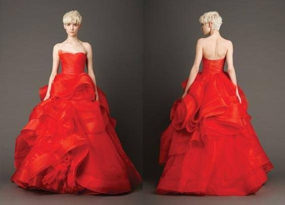 vera wang red dress - Google Search