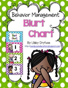 Use this mini clip chart to manage students' blurting out!  This is a great visual reminder for students to remember to raise their hands and stop blurting out!
