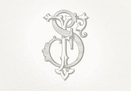Vintage Wedding Monogram Fs Sf Wedding Invitation Digital Etsy Vintage Monogram Diamond Drawing Antique Logo