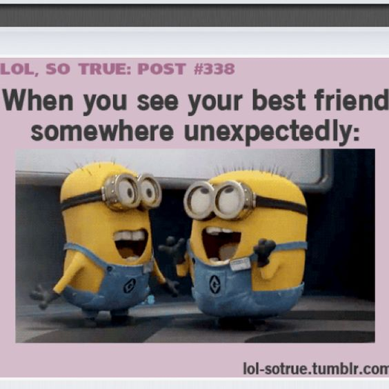 hahahha the best :): Minion Quotes About Friends, Minions Love, Best Friends, Friends Forever, Funny Stuff, Despicable Me, My Best Friend, Bestfriend, Haha So True