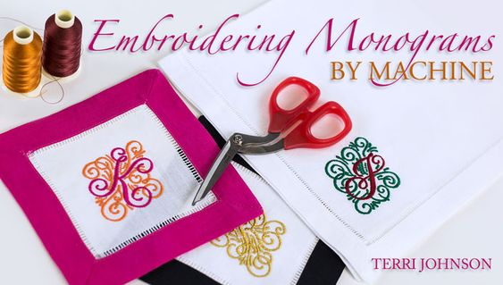 Learn to create embroidered monograms on any machine as you perfect placement and stitching to add a personal touch to almost anything! - via @Craftsy