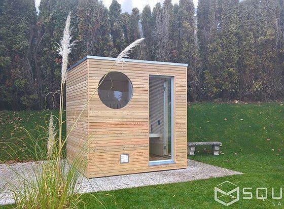 Die Edle Sauna Fur Ihren Garten Oder Ihre Dachterrasse Kompakt Und Dennoch Mit Hochstem Komfort Badezimmerideen In 2020 Sauna Design Outdoor Sauna Sauna Diy