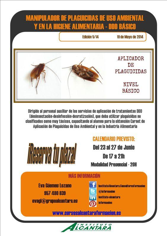 Manipulador de Plaguicidas de uso Ambiental - DDD Básico Nueva edición en Junio por las tardes