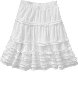 Girl's Tiered Ruffle Skirt...I could make one like this.