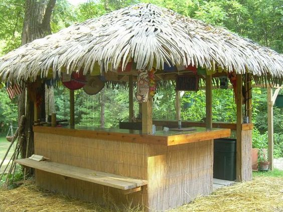 Tiki Hut, How To Build And Outdoor On Pinterest