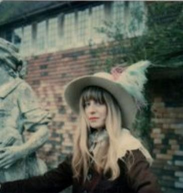 Charlotte Martin at a garden party held at Plumpton Place, the home she shared with Jimmy Page.