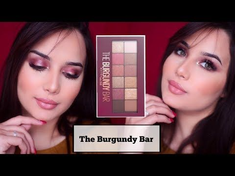 مكياج عنابي روعة بطريقة بسيطة جدا The Burgundy Bar Mabelline Youtube My Beauty Mabelline Contact Lenses