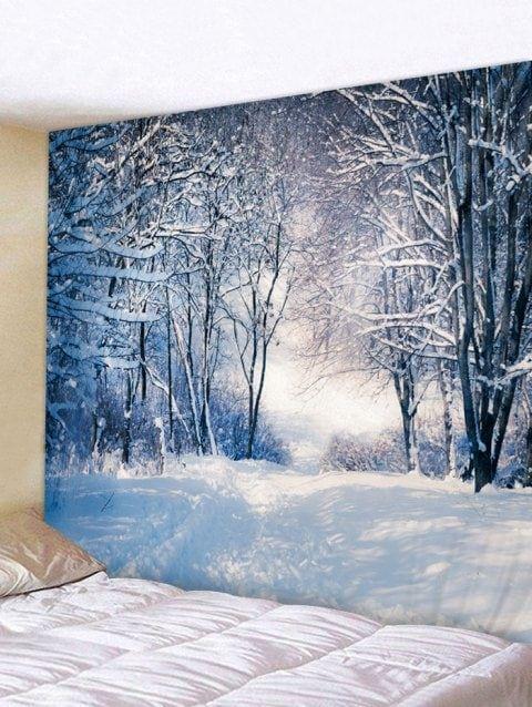 Christmas Snow Scene Printed Tapestry Wall Art Decoration Multicolor Snowy Snowyowl Christmas Tapestry Wall Art Tapestry Wall Prints