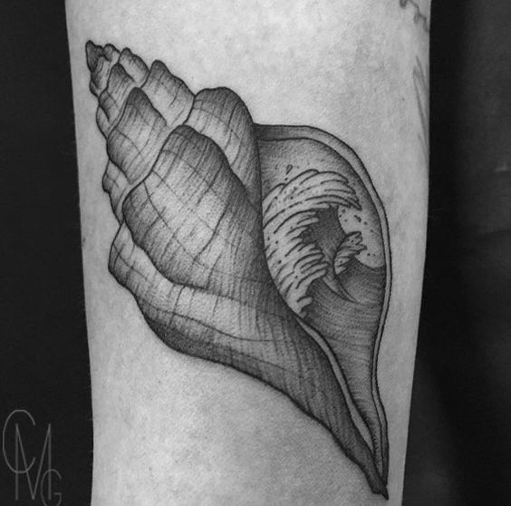 Shell Tattoo by Maria
