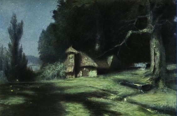 Hermann Hendrich, Wagner's Ring des Nibelungen, Hunding's hut, in Niebelungenhalle,