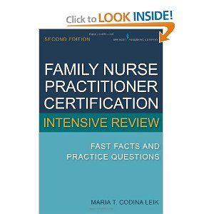 FAMILY NURSE PRACTITIONER PLAN OF STUDY