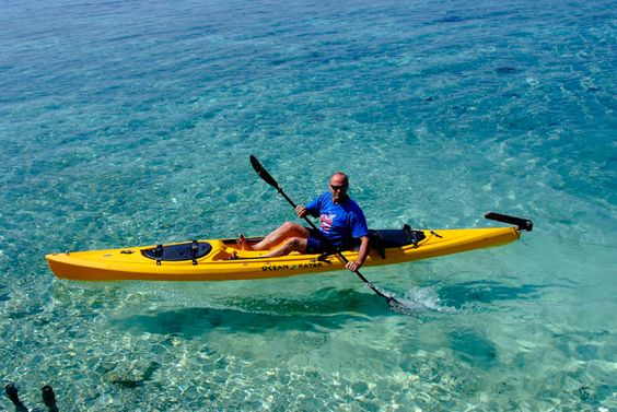 Kayaking around the Placencia Peninsula is extremely enjoyable. Enjoy the sunshine, clear waters and varieties of birds and fish as you paddle along. Go lagoon side to visit with the playful manatee! #robertsgrove
