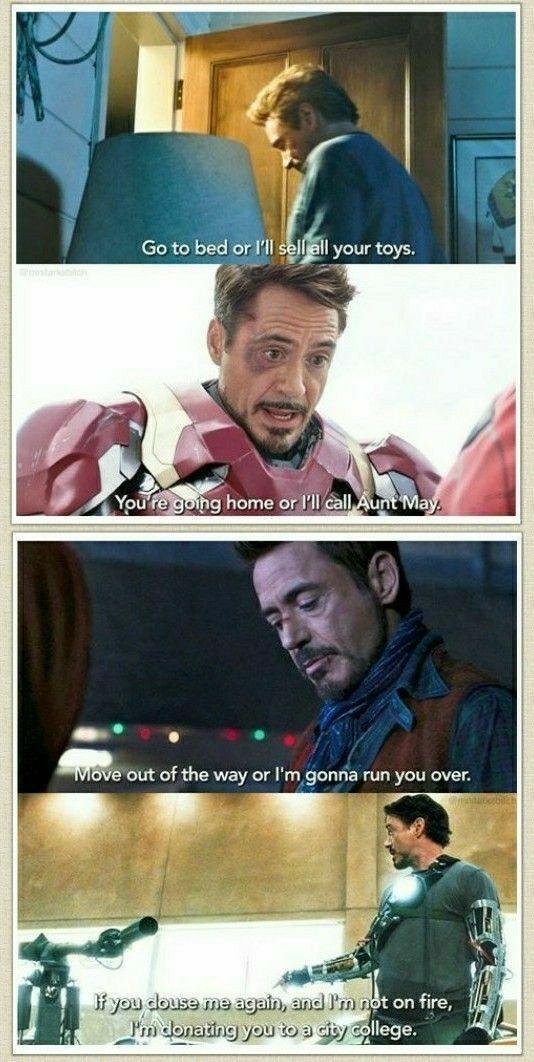 Pin By Archana On Iron Man Rdj Marvel Jokes Funny Marvel Memes Avengers Funny