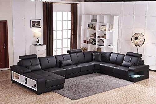 Best Seller My Aashis Luxury Sectional Sofa Design U Shape 7 Seater Lounge Couch Corner Sofa Online In 2020 Sofa Design Leather Corner Sofa Sofas For Small Spaces