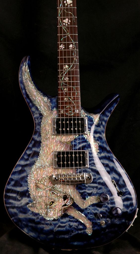 Driskill Wolf guitar. insane mother of pearl inlay - it ...
