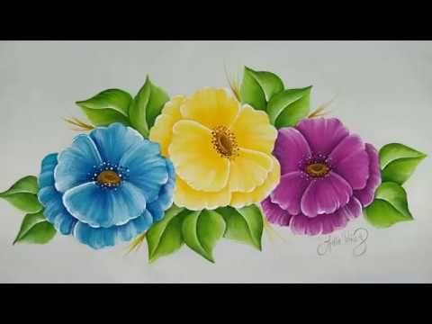 Youtube Flores Pintadas Como Pintar Flores Y Pintura En