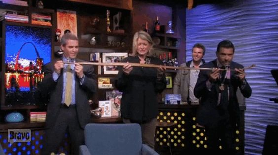 "When Martha Stewart took a shot from the shot-ski. | The 54 Most Iconic Moments In Five Years Of ""Watch What Happens Live"""