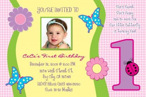 Birthday Invitations For 1 Year Old Card 1st Birthday Invitation Wording 1st Birthday Invitations Birthday Invitations Kids
