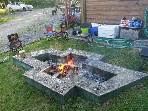 A chevy emblem fire pit