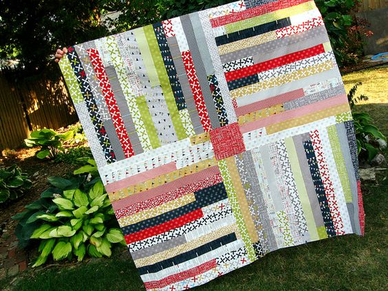 Four Corners Quilt Tutorial by quirky granola girl, via Flickr