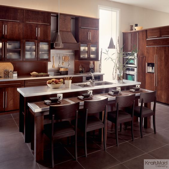 Great Kraftmaid Kitchen For Dinner Parties This Island