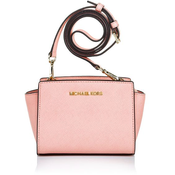 Spring/Summer Colour: perfect in pink! Michael Kors Selma Mini Messenger Pale Pink Cross Body Bags bei Fashionette
