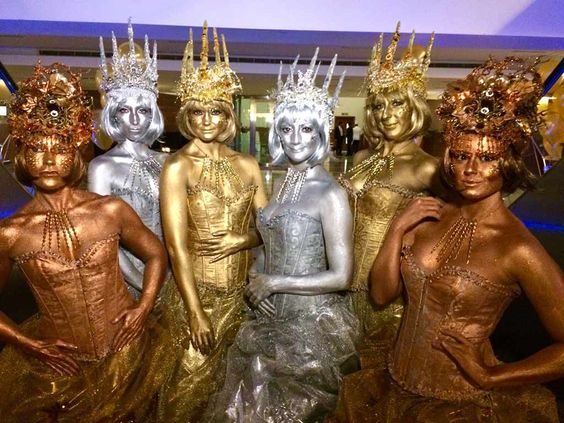 Metallic Queens - Human Statue | London | South East | UK