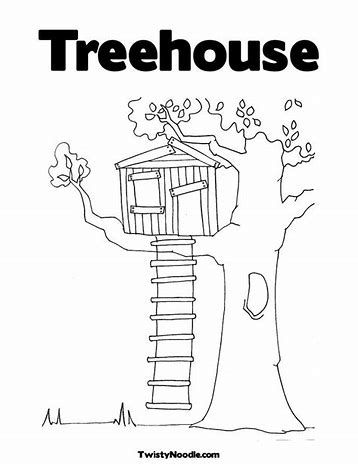 Magic Tree House Coloring Pages Printable / Boy And Girl