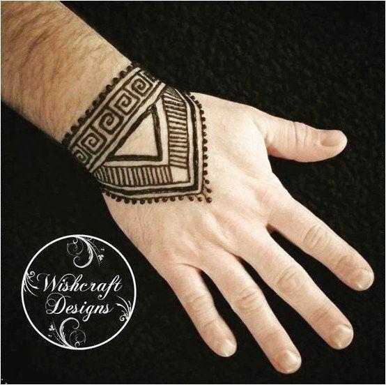 Henna For Men Hand Geometric Style Linear Design Menna Art By Wishcraft Designs Moderntattood Tribal Henna Designs Men Henna Tattoo Henna Tattoo Hand