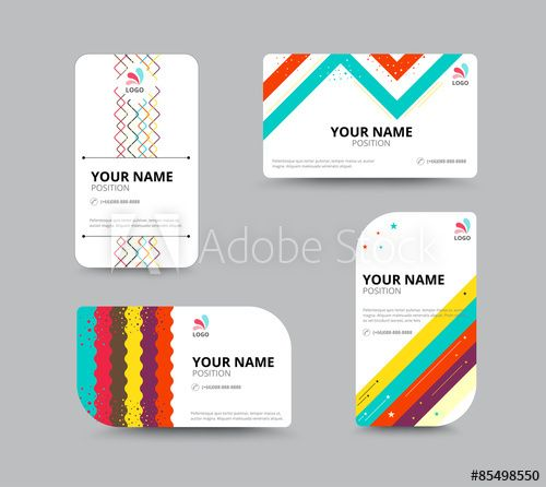 Business Card Template Business Card Layout Design Vector Illu Business Card Layout Design Business Cards Layout Business Card Template