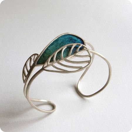Bracelet of silver and coloured paper - Silina Pandelidou