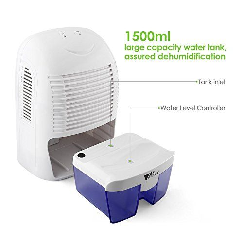 Amzdeal Intey Dehumidifiers For Home 800ml Small Dehumidifier With Auto Off Operation Semiconductor Moisture Absorber Portable Mini Air Dehumidifier Removing Da Dehumidifiers Mini Dehumidifier Moisture Absorbers