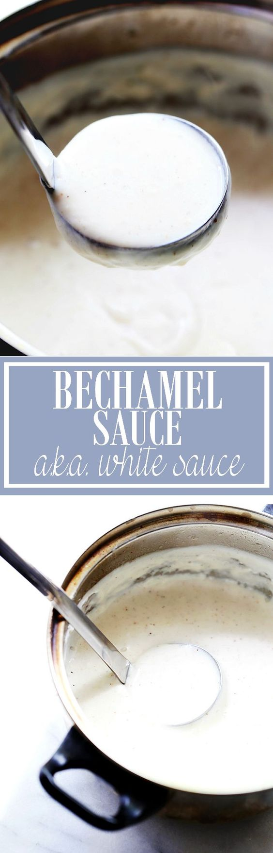 Béchamel sauce, also known as white sauce, is a classic French all-purpose sauce made from butter, flour, and milk.