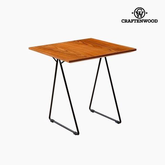 Side Table Walnut Mdf 55 X 55 X 55 Cm By Craftenwood Side