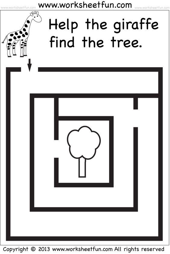 preschool mazes: