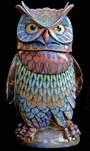 Owl 6 - David Burnham Smith - Master Ceramic Artist