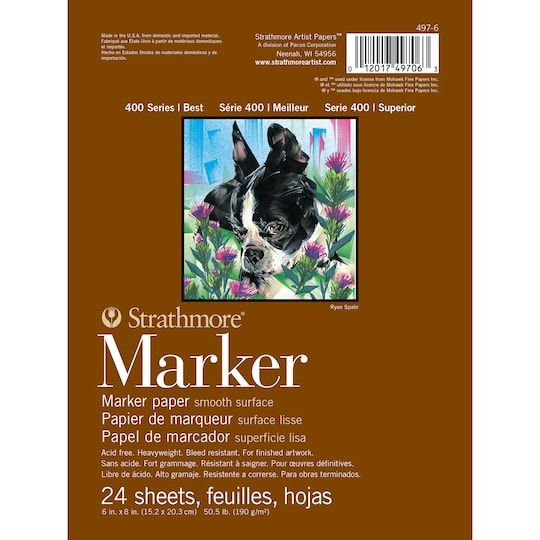 Strathmore 400 Series Marker Paper Pad Marker Paper Markers Paper