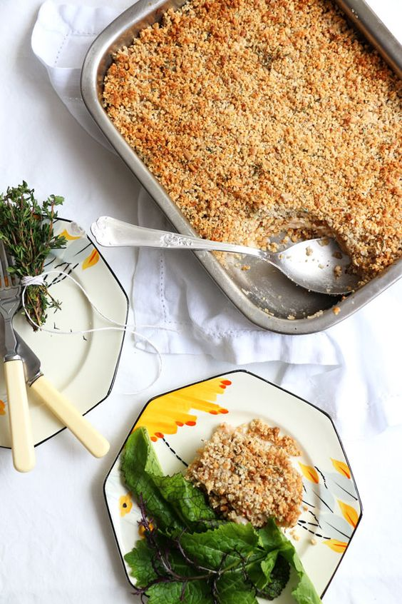 Savoury Celeriac and Apple Crumble: