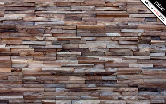 reclaimed hardwoods on your wall by WONDERWALL STUDIOS