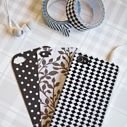 Get a clear iPhone case and cut out a pretty piece of paper...and there you have it! A personalized iPhone case!