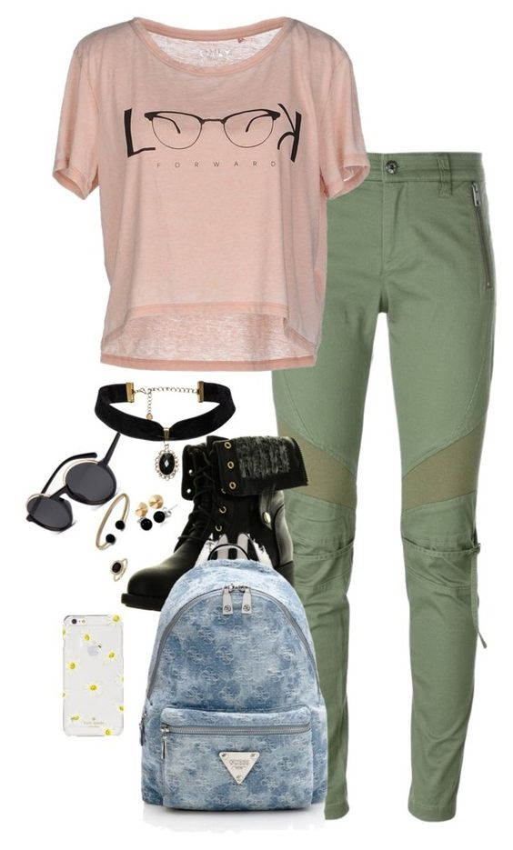 """""""Untitled #369"""" by haymay2000 on Polyvore featuring Diesel, ONLY, Refresh, Bling Jewelry, Blue Nile, Eddie Borgo, David Yurman and Kate Spade"""