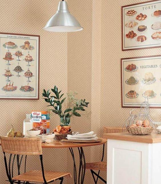 Mesa redonda en cocina peque a comedores pinterest mesas for Mesa redonda para cocina pequena