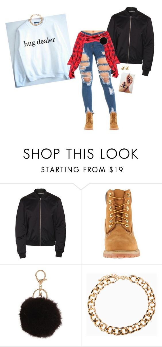 """Untitled #4489"" by bby-16-gul ❤ liked on Polyvore featuring T By Alexander Wang, Timberland, Armitage Avenue, DailyLook and Han Cholo"