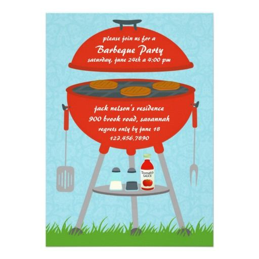 If you are looking for a BBQ or Outing invitation cards, then this cute Barbeque Grill Party Invitation Card is perfect for you, and it's totally customizable!