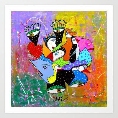 STORMY EYES Art Print by Adka - $15.00