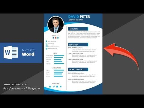 How To Create A Professional Cv Resume In Microsoft Word 2016 2019 2020 Youtube Microsoft Word 2016 Words Downloadable Resume Template